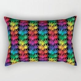 Cannabis Rainbow Rectangular Pillow