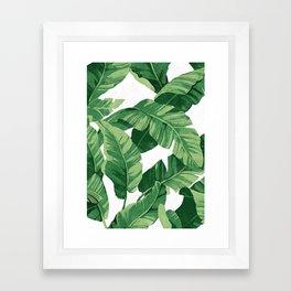 Tropical banana leaves IV Framed Art Print