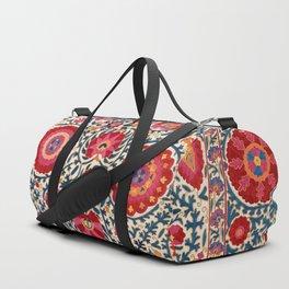 Kermina Suzani Uzbekistan Embroidery Print Duffle Bag