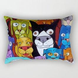 Watching Cats Rectangular Pillow