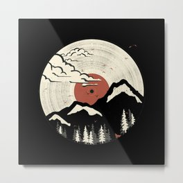 Mountain mnt lt Metal Print