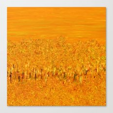 Tigers in Fields of Marigold Canvas Print