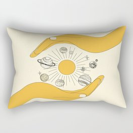 The Universe in Your Hands Rectangular Pillow
