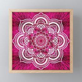 Mandala Hot Pink Colorburst Framed Mini Art Print