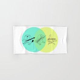 Keytar Platypus Venn Diagram Hand & Bath Towel