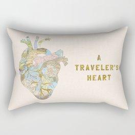 A Traveler's Heart Rectangular Pillow