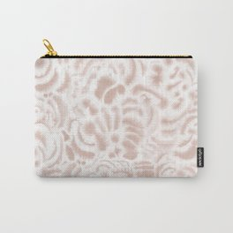 Dye Curves Peach Beige Carry-All Pouch