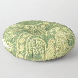 Silk fabrics 13th century (1857-1864) by anonymous Floor Pillow