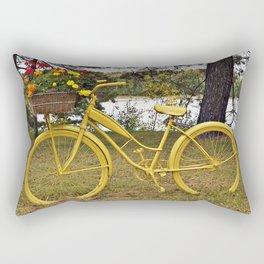 Yellow Bikes Rectangular Pillow