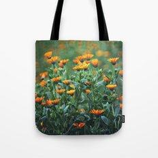 Orange Flowers #1 Tote Bag