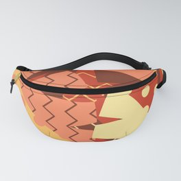 Patterned Autumn Leaves (Modern Retro Bold Colors) Fanny Pack