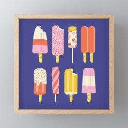 Popsicles Framed Mini Art Print