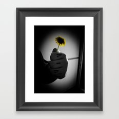 Kind Flower Framed Art Print