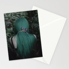 Green Forest Depression Stationery Cards