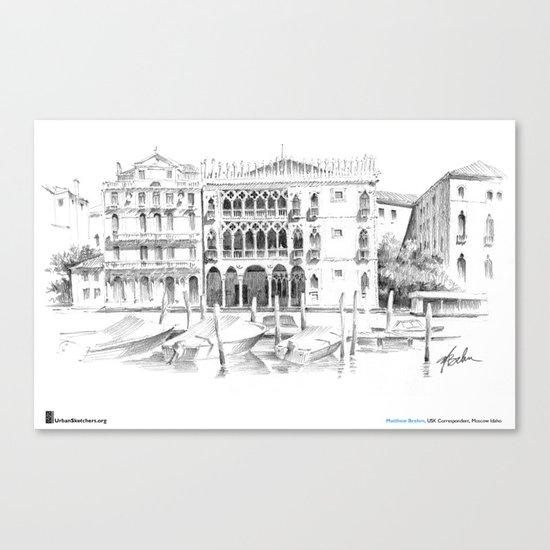 "Matthew Brehm, ""Venezia Ca dOro"" Canvas Print"