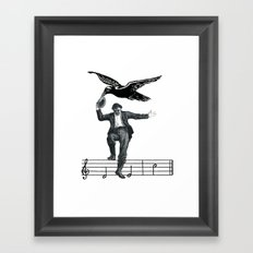 Saved By The Music Again  Framed Art Print