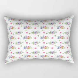 Tiny Flowers Ditsy Floral Rectangular Pillow