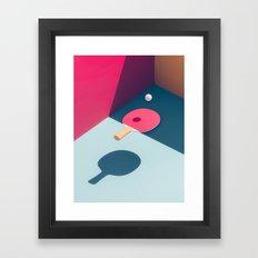 Pop Pong Framed Art Print