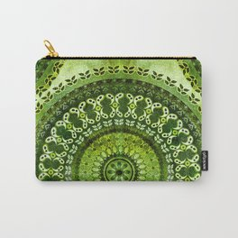 Vintage Lime Mandala Carry-All Pouch