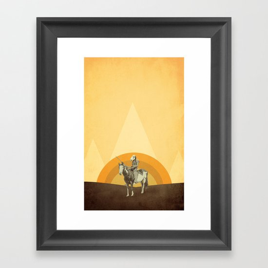 Dirty Feathers Framed Art Print