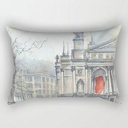 Lviv cityscape Rectangular Pillow
