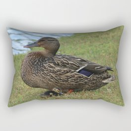 Mother Duck Rectangular Pillow