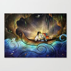 Something About Her Canvas Print