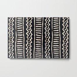 African Vintage Mali Mud Cloth Print Metal Print