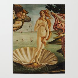The Birth of Venus by Sandro Botticelli Poster