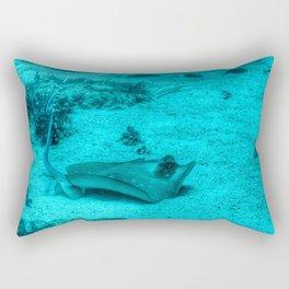 Sting ray taking a bath Rectangular Pillow