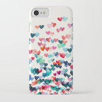 purple iPhone & iPod Cases featuring Heart Connections - watercolor painting by micklyn