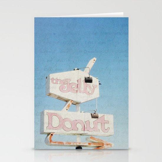 the jelly donut Stationery Cards