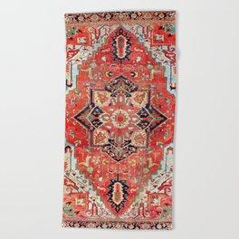 Heriz Azerbaijan Northwest Persian Rug Print Beach Towel