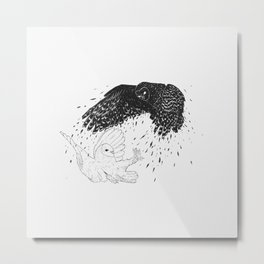 owl & ghost Metal Print