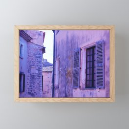 Ancient purple village Framed Mini Art Print