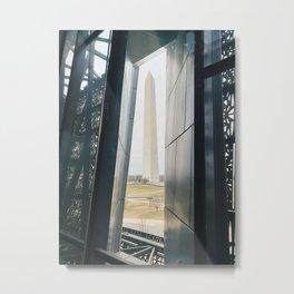 Washington Monument Through Museum Window Metal Print