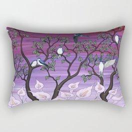 calla lilies & tree swallows Rectangular Pillow