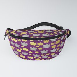gold,silver,purple,maple, leaf, canadian, canada, symbol, design, background, fall, element, tree, c Fanny Pack