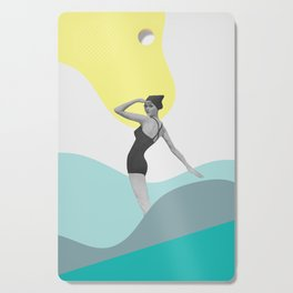 Swimmer Collage Cutting Board
