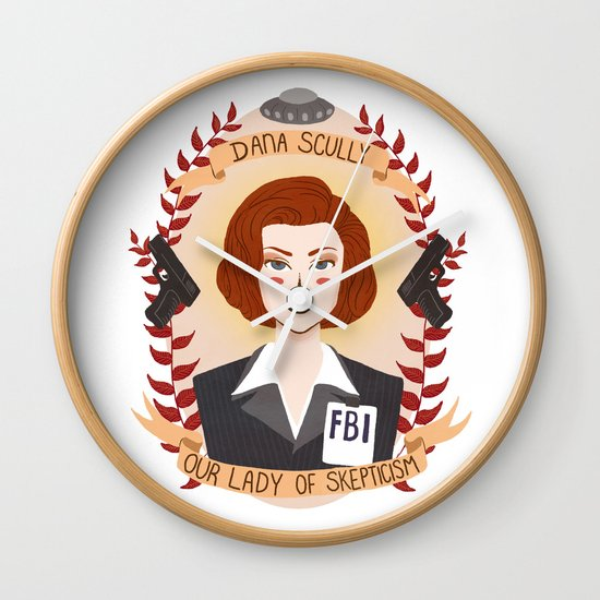 Dana Scully Wall Clock