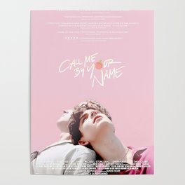 Call Me By Your Name Pink Poster