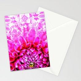 Morocco Oriental Flower Mosaic Gerbera Stationery Cards