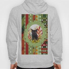 Black Cat jungle Frame pattern Hoody