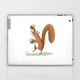 Squirrel With Acorns Laptop & iPad Skin