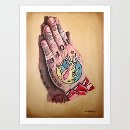 Busted Hands Art Print