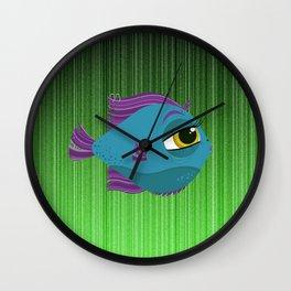 Rock Star Fish Wall Clock
