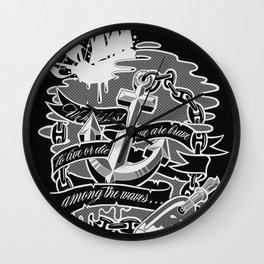 """Among the Waves"" Wall Clock"
