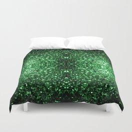 Glamour Dark Green glitter sparkles Duvet Cover