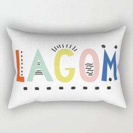 Lagom colors Rectangular Pillow