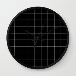 Grid Black Wall Clock